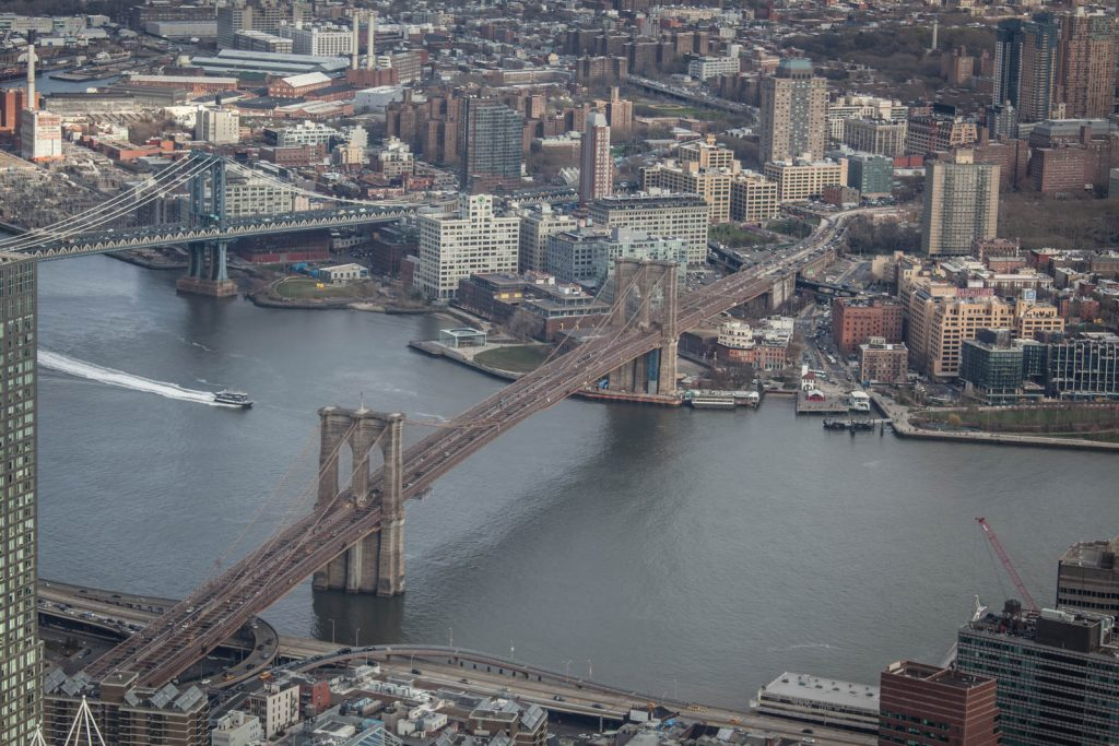 Brooklyn Bridge from One World Observatory