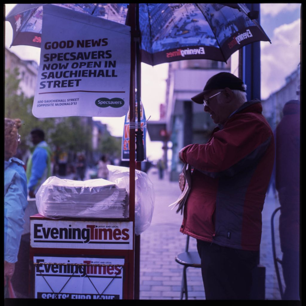 Evening Times, Newspaper Vendor