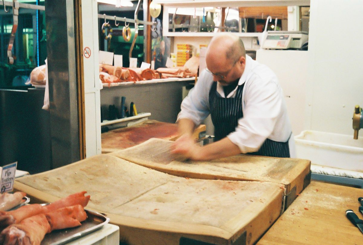 Butcher, Grainger Market, Newcastle