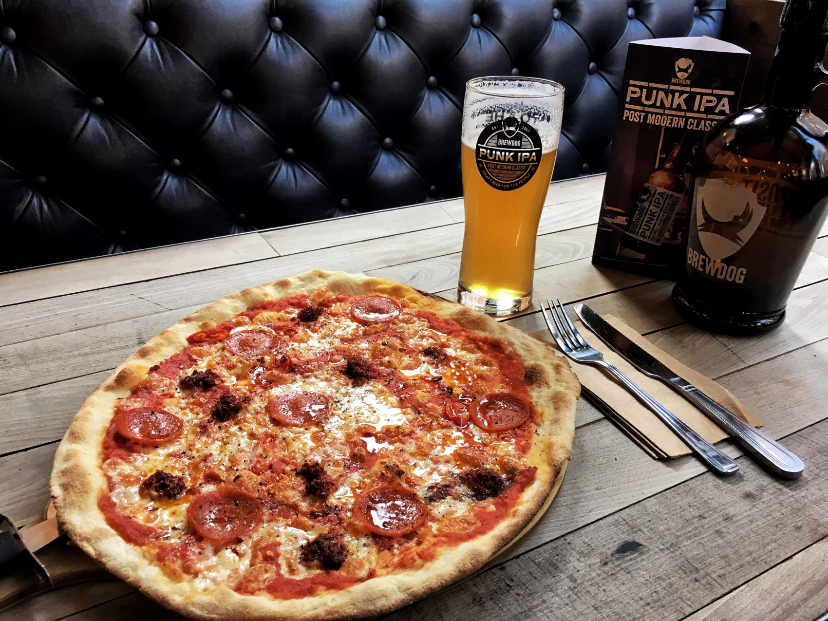 Great Pizzas to be had at Brewdog Bar, Newcastle