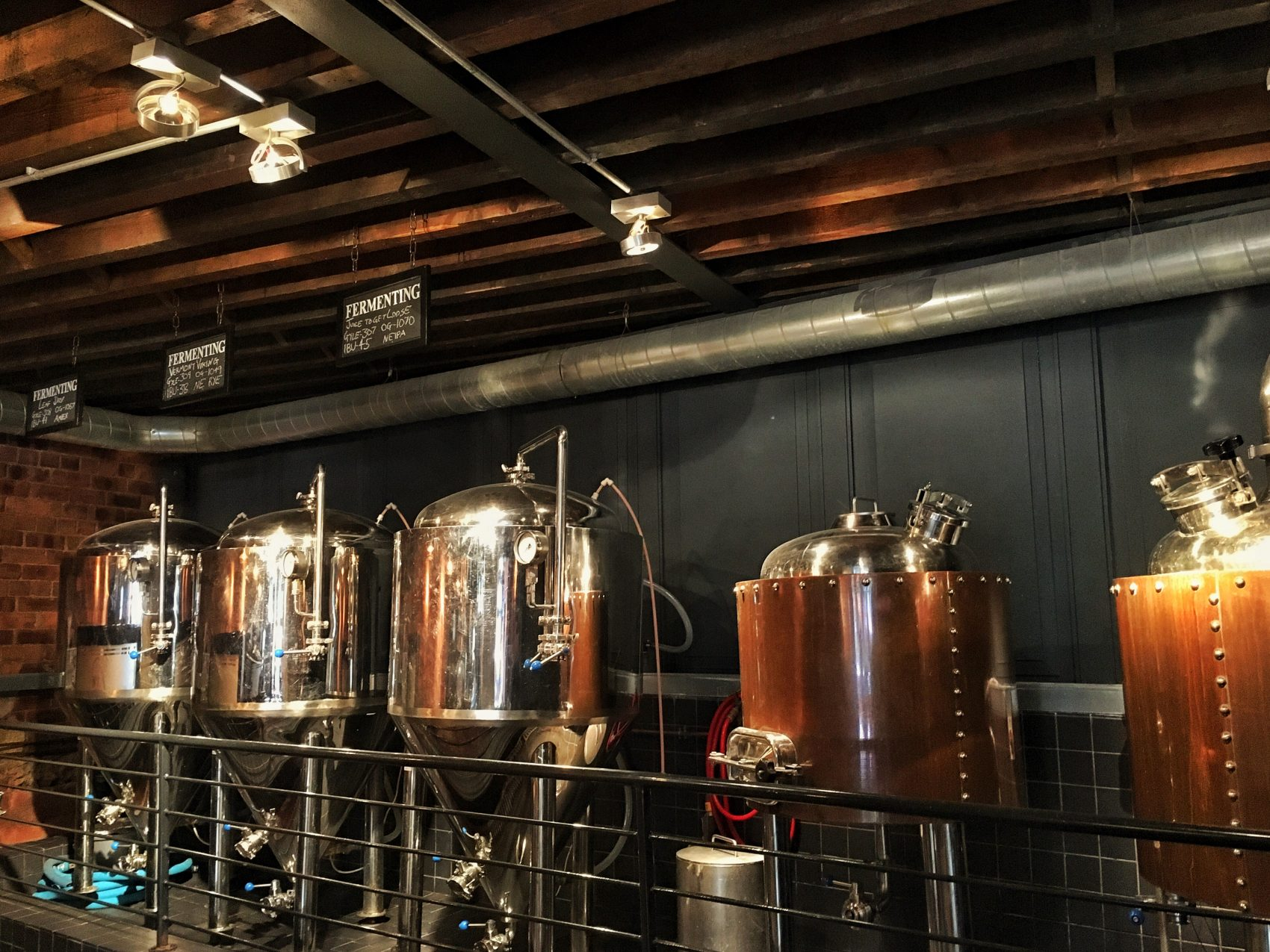 Fermenting and Conditioning Tanks, The Bridge Tavern, Newcastle