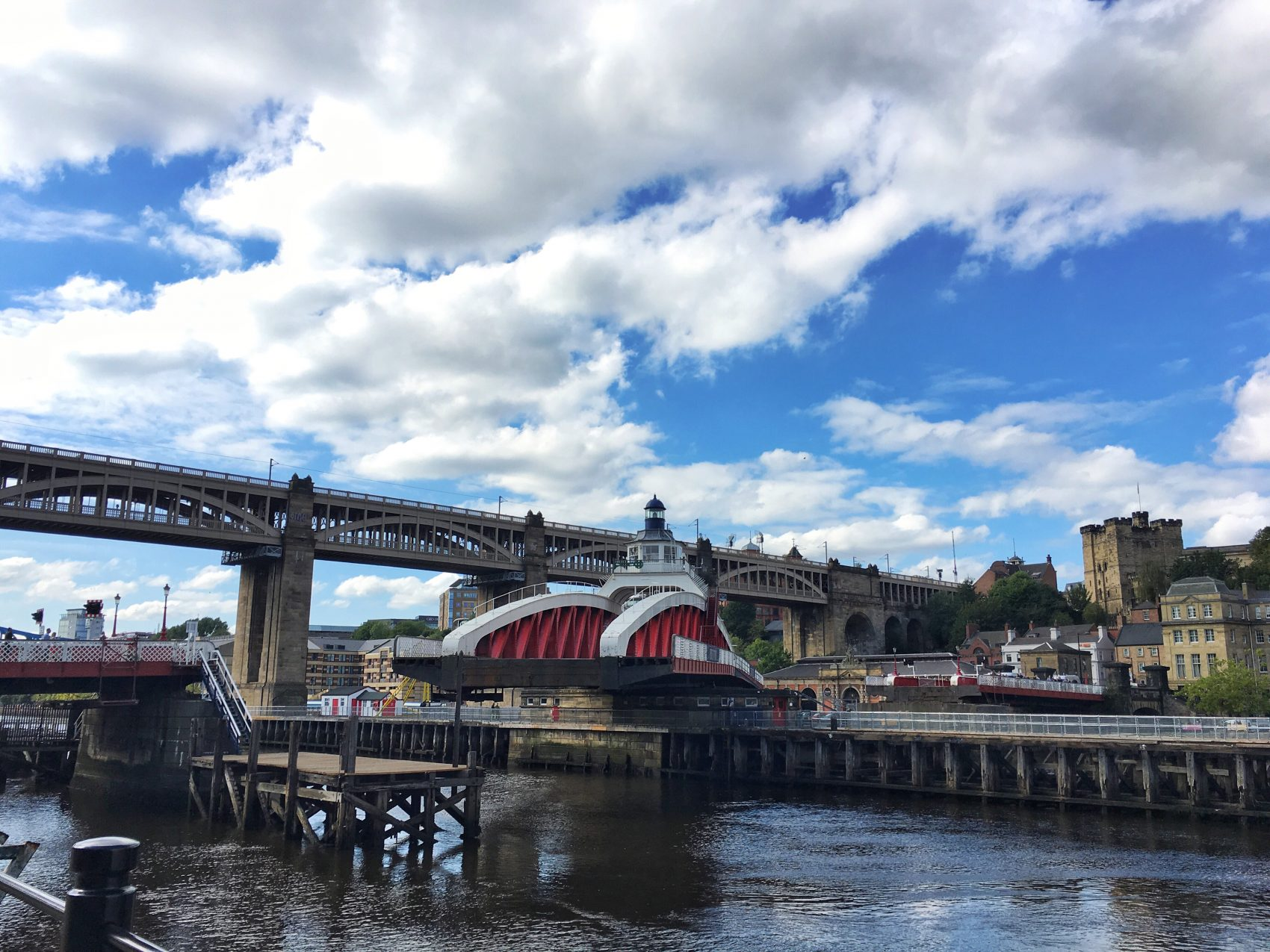 Swing Bridge under operation, Newcastle-Upon-Tyne